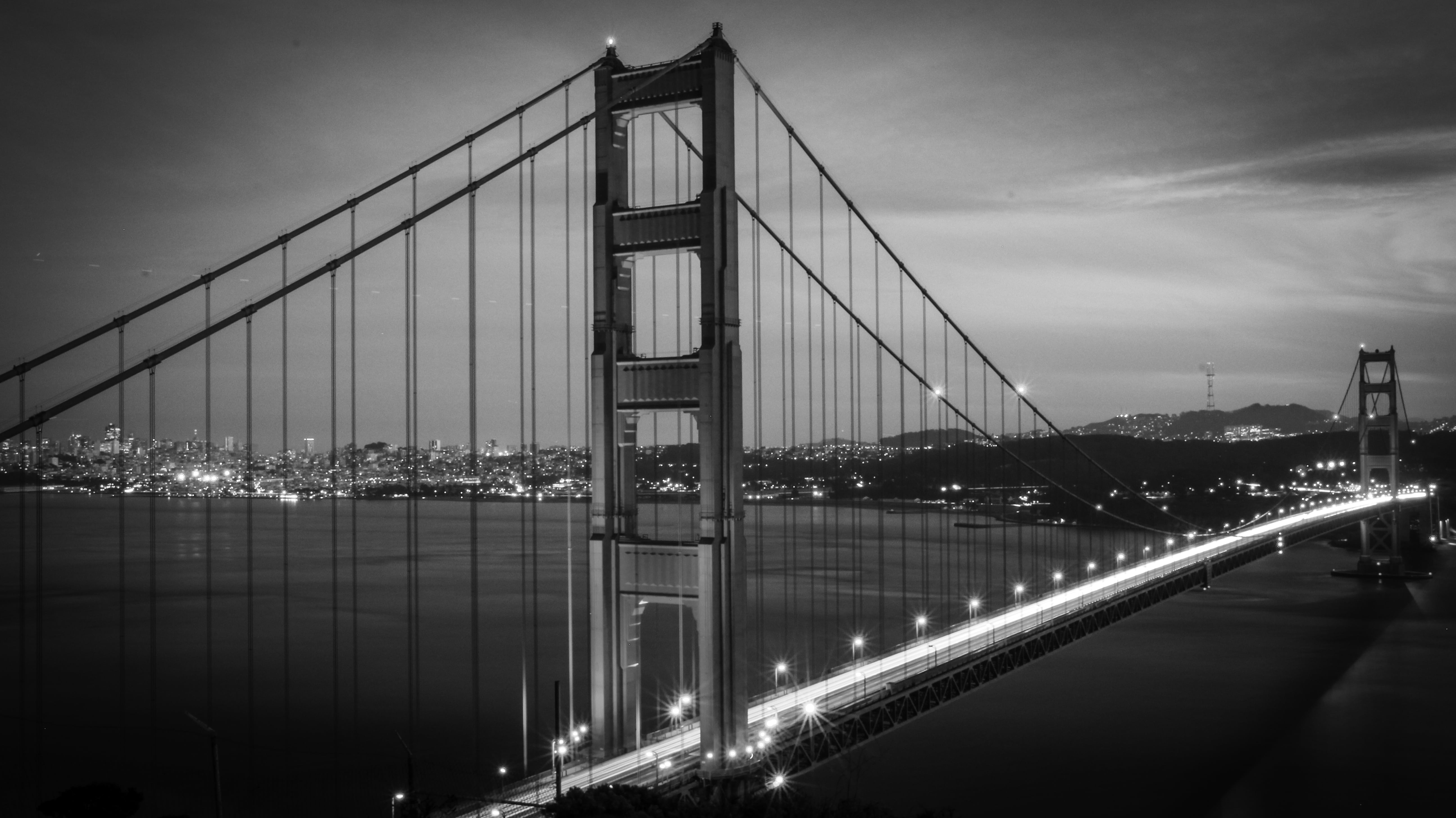 Golden Gate Bridge - Black and White